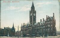 Postcard posted 1906 Lancashire Manchester Town hall