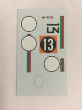 DECALS KIT 1/43 CAR ASTON MARTIN DB4 GT GP JAPANESE N.13