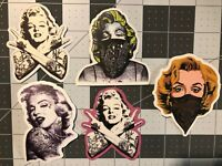 Tattooed Marilyn Monroe-Like /Skateboard/ Guitar/ Decals/Stickers - Your Choice!