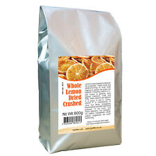 Whole Dried Crushed Lemon Peel and Pulp 800g / Add Flavour to Soup Salad Drinks