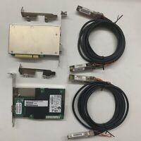 2PCS Intel X520-DA1 10Gbps PCI-E SINGLE PORT Network +2PCS 3M 10G SFP+ Cable