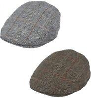 Hommes Ou Garçons Carrelé Plat Casquette Tweed Classique Chapeau Journaux Laine