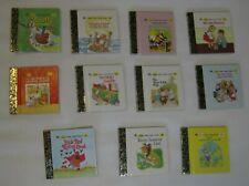 "11 Little Little Golden Book Lot Miniature Childrens Books Vintage Numbered 2.5"""