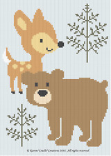 Crochet Patterns - BABY DEER AND BEAR WOODLAND ANIMALS