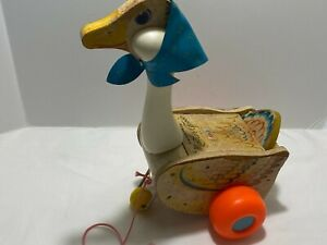 1964 Fisher Price MOTHER GOOSE Pull Toy #164