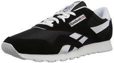 Reebok CL Nylon Classic Running Shoes Sneaker 8 Black White 6604 9b164122f