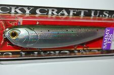 "lucky craft sammy 128 topwater lure 5"" 1oz floating laser rainbow trout walk dog"