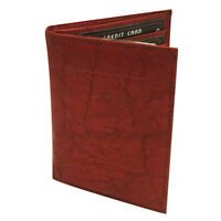 Brown USA PASSPORT GENUINE COW LEATHER COVER Travel Card Case Wallet New