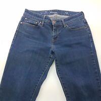 Levi's DEMI CURVE Womens Jeans W26 L30 Dark Blue Slim Fit Skinny Low Rise