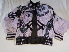 Vintage 90s East West Women's Nylon Tracksuit Purple Black Size Small Jacket