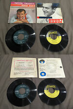 Lot 2 disques 45 tours Bobby Darin - If a man answers - Sentimental Bobby