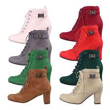 Hirschkogel 3617400 Damen Schnür-Stiefeletten Stiefel Trachten Schuhe Wildleder
