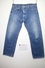 Levi's 505 (Cod.N470) Tg.52 W38 L30 relaxed fit  jeans usato