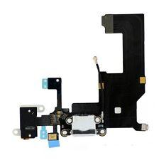 Iphone 5 Nuevo Blanco Completo Conector Dock Puerto De Carga Cable Circuito Plug parte