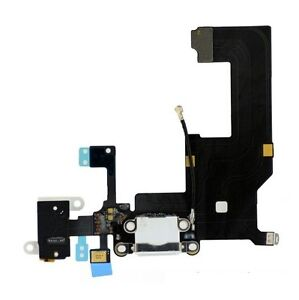 iPhone 5 New White Complete Dock Connector Charging Port Cable Circuit Plug Part