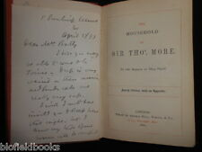 ANNE MANNING: The Household of Sir Thos. More 1860 inc ALS AUTHOR SIGNED LETTER