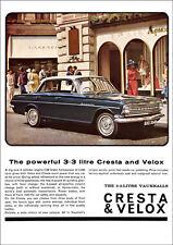 VAUXHALL CRESTA & VELOX PB RETRO A3 POSTER PRINT FROM CLASSIC 60's ADVERT