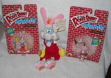 #7261 Disney Roger Rabbit 2 Animates, 2 Flexies & Plush Suction Cup Roger Rabbit