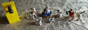 Vintage Disney 101 Dalmations, Lady And The Tramp etc Promotional PVC figures