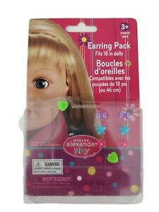 Madame Alexander Play 4 Pair Earrings For 18 in Dolls