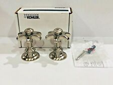 Kohler Artifacts Bath Deck Mount Prong Cross Handles in Brushed Nickel Finish