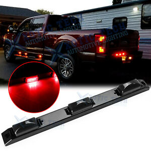 "17"" Smoked Black LED Rear Truck Bed Mounted Center Tailgate Running Light Bar 1x"