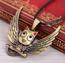 Fairy Tail Happy Metal Pendant Necklace Anime Cosplay 5cm US Seller