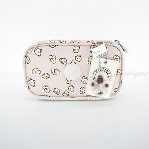 NWT Kipling AC8236 50 Pens Case Cosmetic Accessory Box Polyester Popcorn Dance