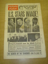 MELODY MAKER 1963 AUGUST 10 SAM COOKE CLIFF RICHARD SEARCHERS ROLAND KIRK +