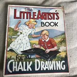 1944 The Little Artist's Book For Chalk Drawing *RARE*