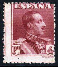 España 1925 Rey Alfonso XIII 4 pesetas carmín-lago SG 392 Como Nuevo