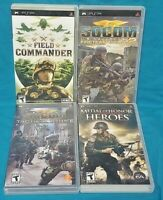 SOCOM, Medal of Honor, Field - Sony PSP Complete 4 Game Lot Playstation Portable