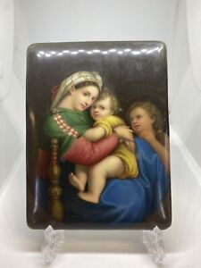 19th Centuary Continental Porcelain Plaque, Finely Handpainted.