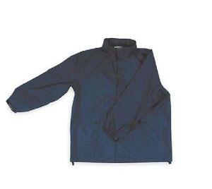 Condor Unisex Navy Polyurethane Rain Jacket w/ Hood Size 4XL