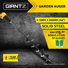 Giantz Power Garden Auger Post Hole Digger Earth Drill Bit Bits Plant 75x600mm