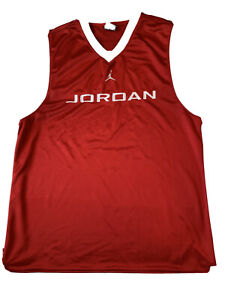 Nike Air Jordan Sleeveless Jumpman Jersey. Red /white . Large. Basketball. Cool!