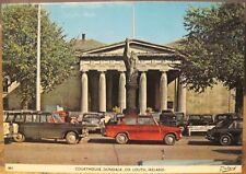 Irish Postcard DUNDALK Courthouse County Louth Ireland Cars 1960s Dollard 661