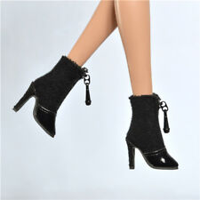 Black shoes For Fashion royalty poppy parker doll DG momoko boots 15-FR2-1