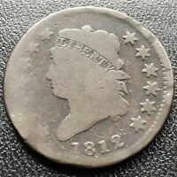 1812 Large Cent Classic Head One Cent 1c Rare Circulated #17718