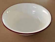 Corelle Bandhini Soup Cereal Bowls White with Red Around the Rim Set of 4
