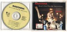 Cd MADONNA Don't cry for me Argentina EVITA OTTIMO Cds single singolo 4 tracks