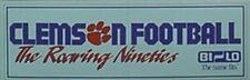 "1990 CLEMSON TIGERS FOOTBALL BUMPER STICKER ""ROARING NINETIES"""