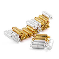 10set Barrel Magnetic Clasp Silver Gold Magnet Necklace Fasten Jewelry Findings