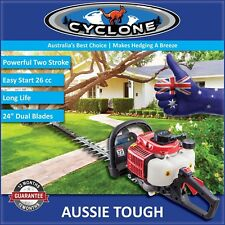 New Cyclone 26 cc Hedgetrimmer with 180 degree rear swivel handle | Hedge Cutter