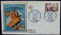 Enveloppe 1é jour du 25 05 1968 Valréas 650é anniversaire de l'enclave des Papes