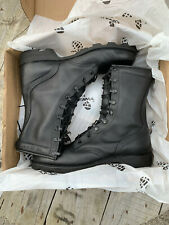 "NEW Altama Black 10"" Leather Military Combat Boots, Size 10 UK"