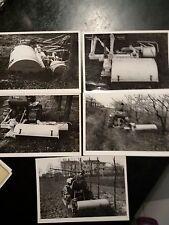 lotto 5 fotografie anni 60 con trattori macchine agricole varie marche