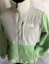 The North Face Denali Fleece Jacket Women Polartec Coat Gray Green Full Zip Sz S