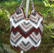 Hand Knit Designer Shoulder Bag - Market or Swim or Gym Bag -  5 Colour