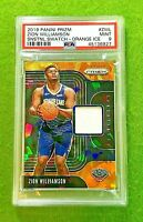 ZION WILLIAMSON PRIZM ROOKIE JERSEY CARD PSA 9 MINT RC PELICANS 2019-20 Prizm SP